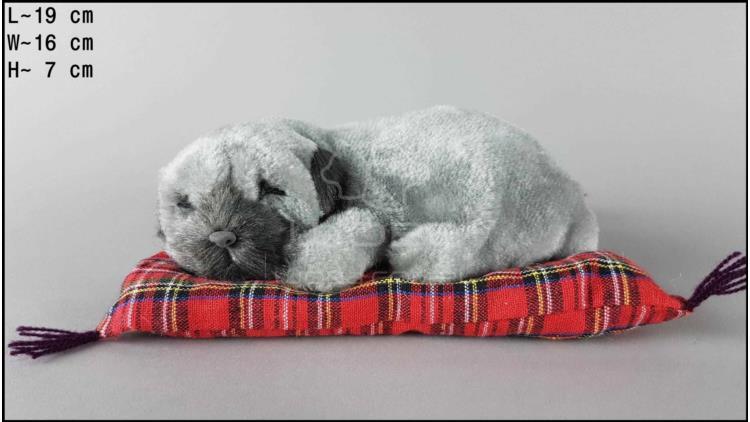 Pies Shar Pei na poduszce Rozmiar S