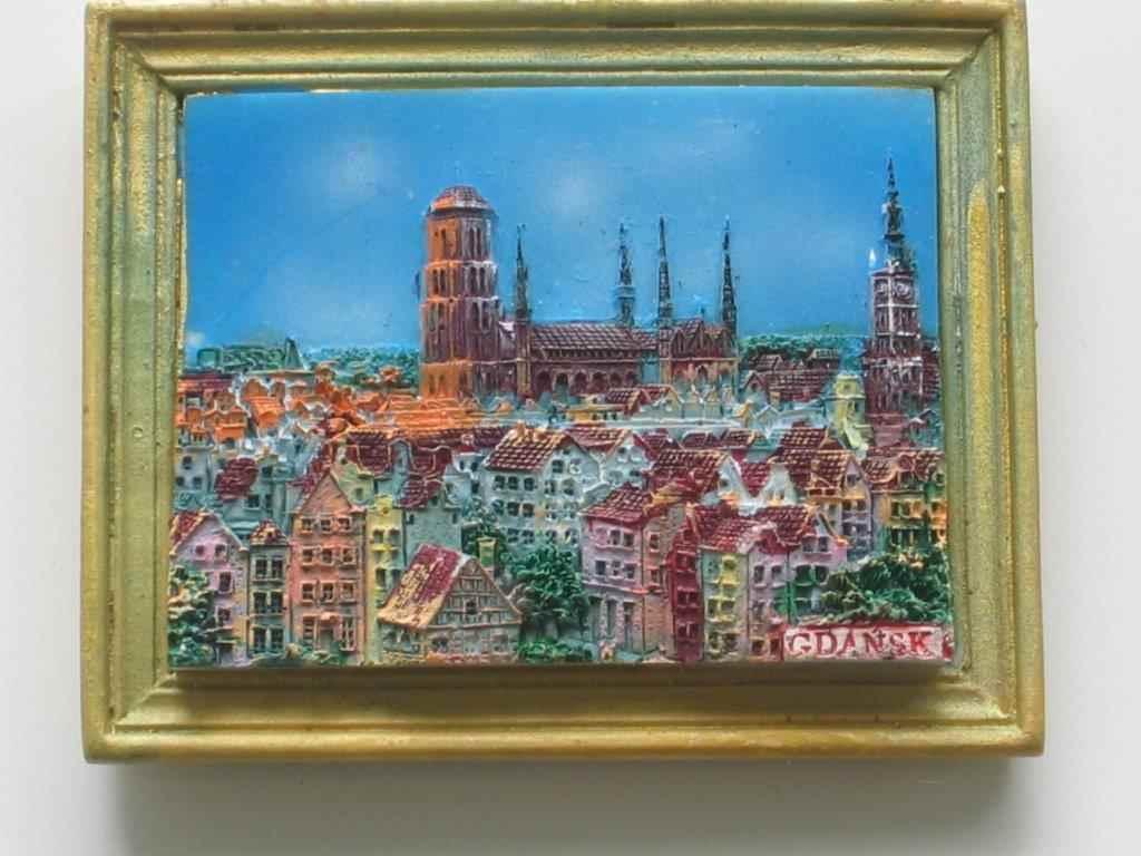 Magnet - Gdansk - Top view - Frame