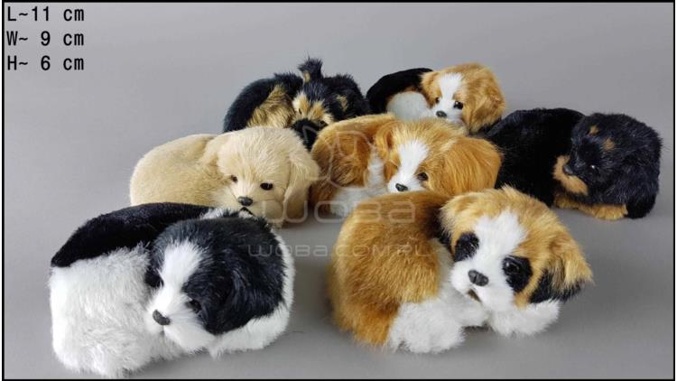 Little dogs lying, barking (7 pcs in a box)