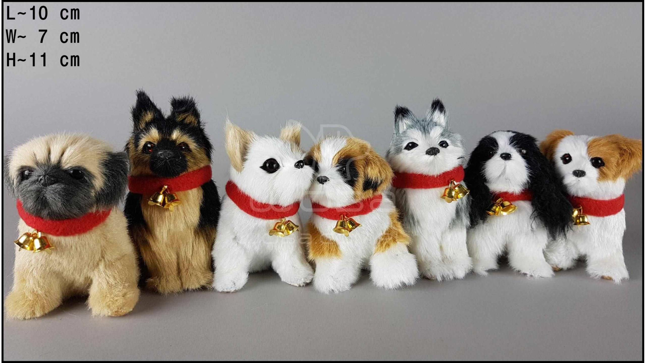 Little dogs with a bell, barking (7 pcs in a box)