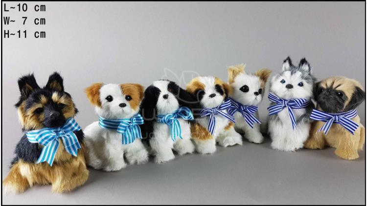 Little dogs with a blue neckband, barking (7 pcs in a box)