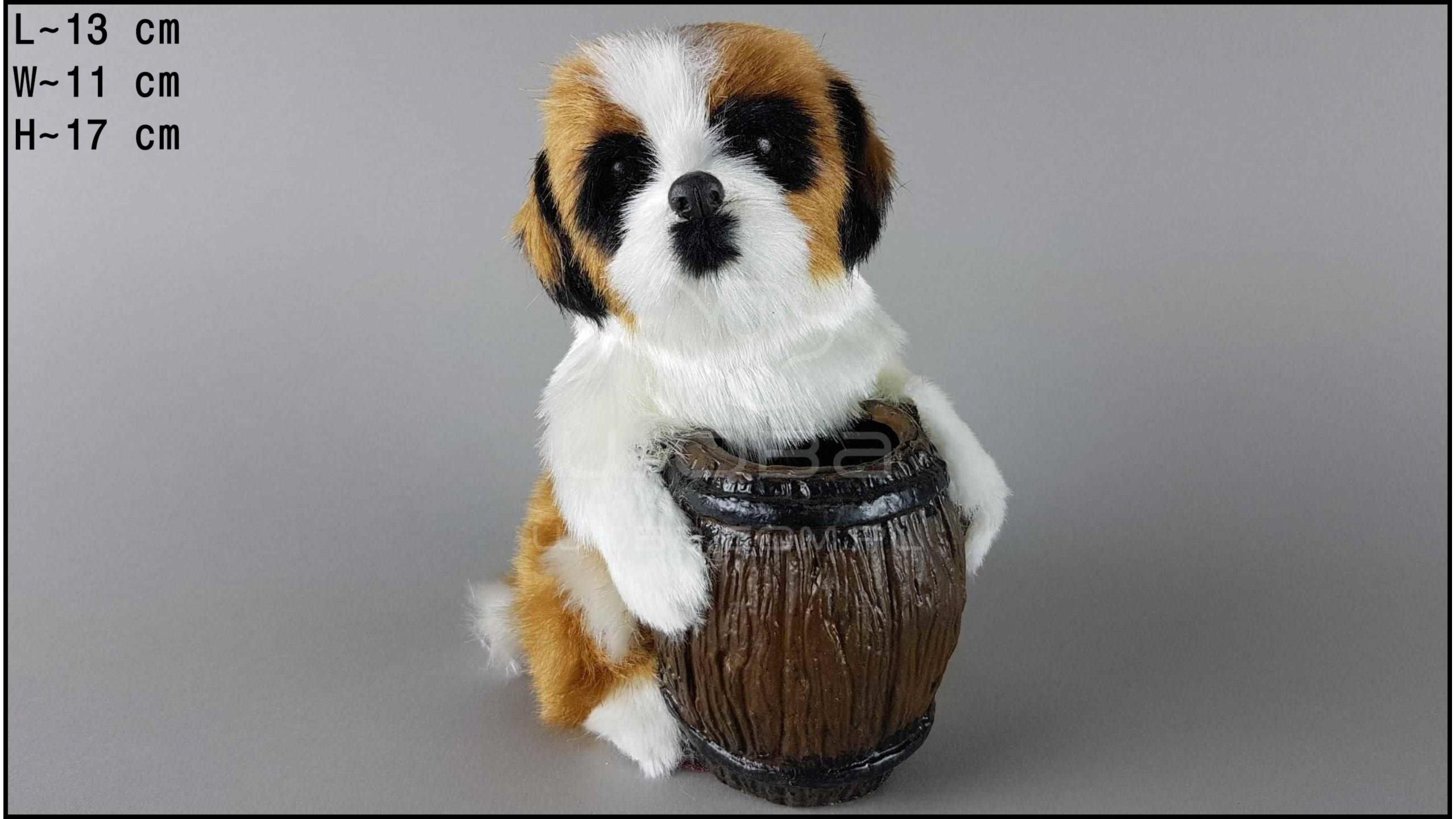 Dog with a barrel - St. Bernard