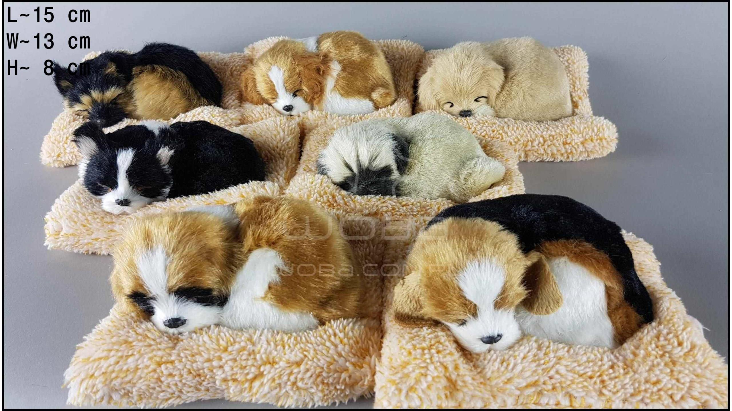 Little dogs on a frotte pillow (7 pcs in a box)
