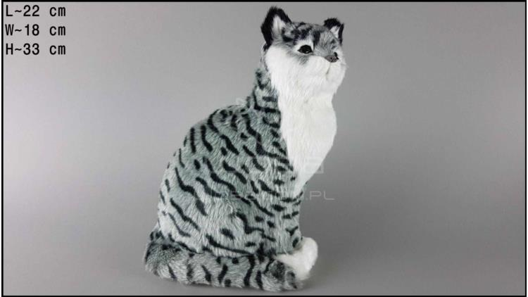 Kot b.duży siedzący Szary