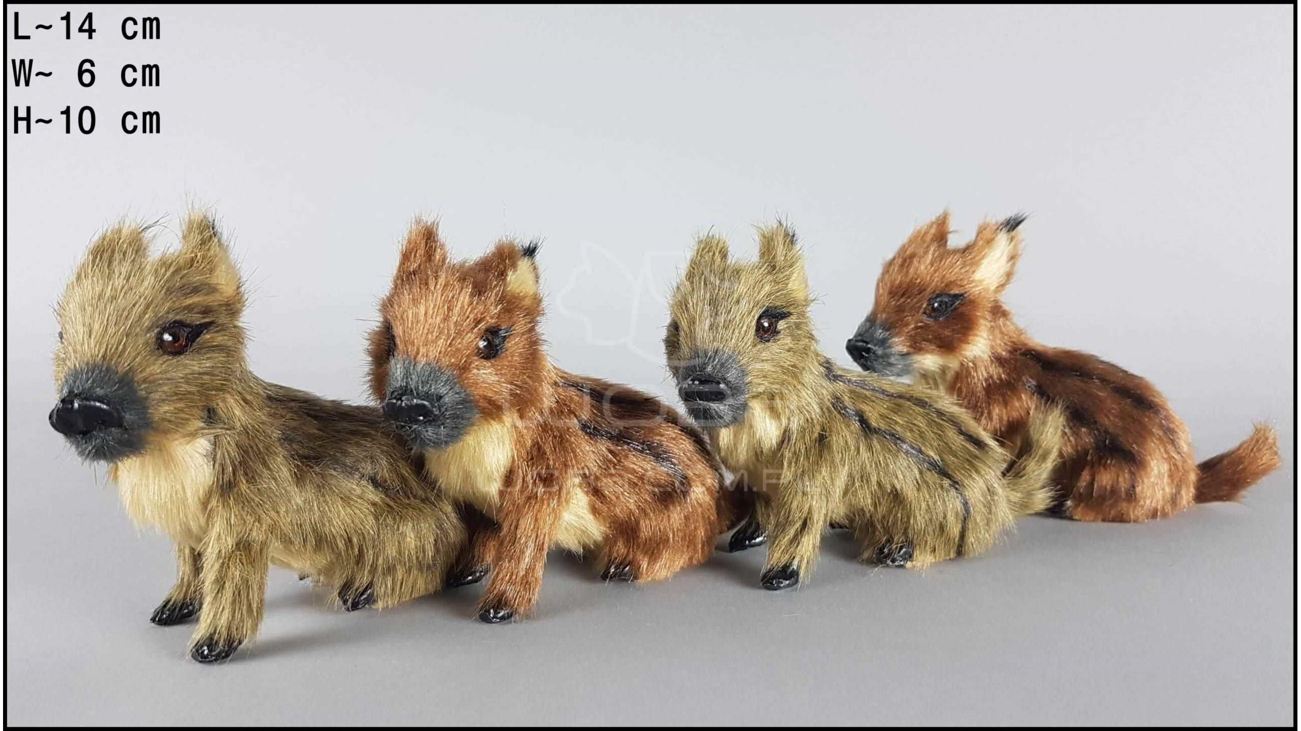 Middle-sized wild boars (4 pcs in a box)