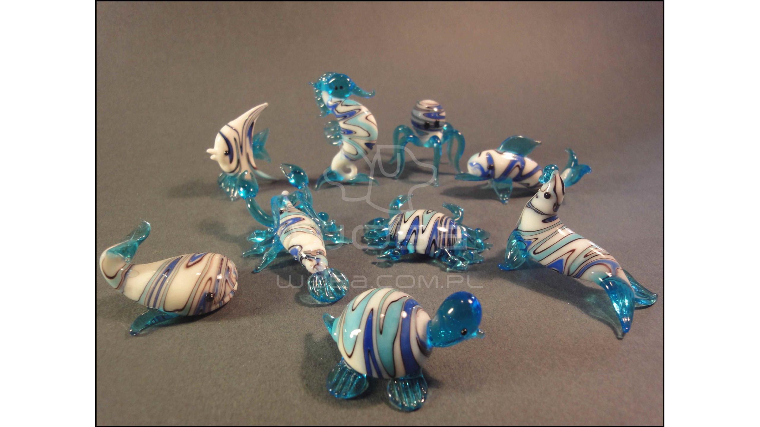 Zwierzęta Morskie Seria A (9 sztuk) Niebieska