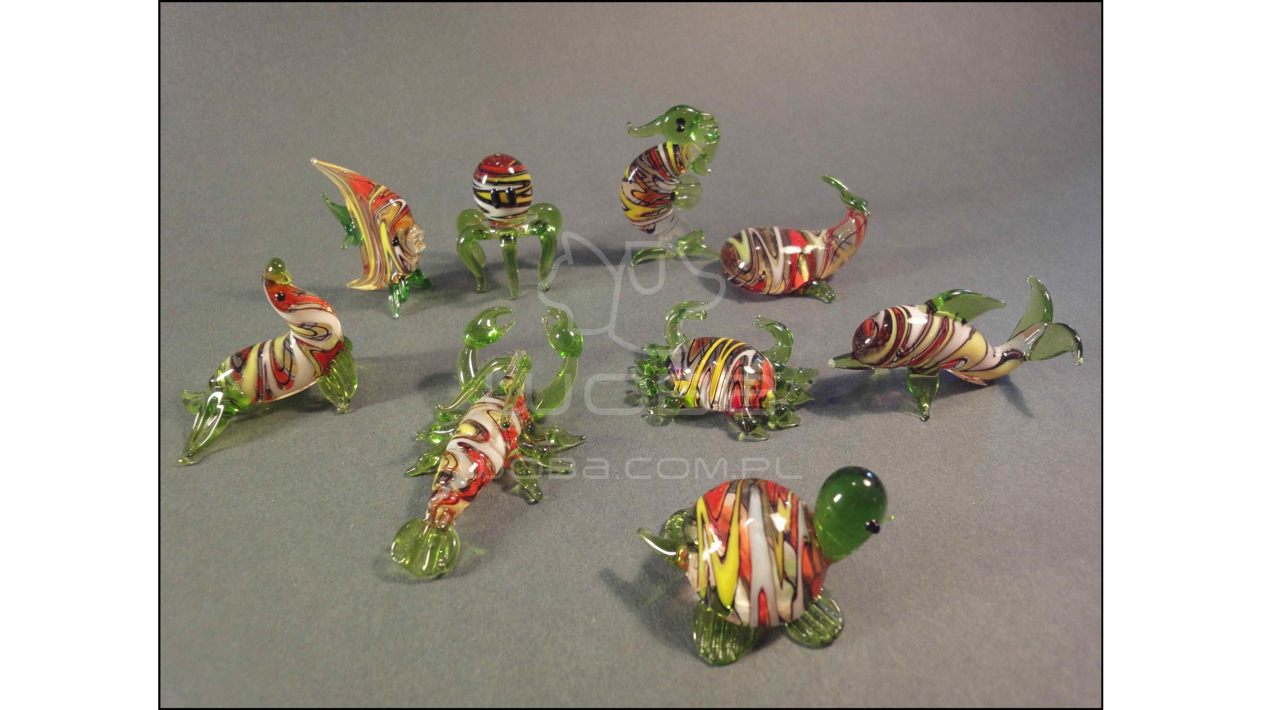 Zwierzęta Morskie Seria B (9 sztuk) Zielona