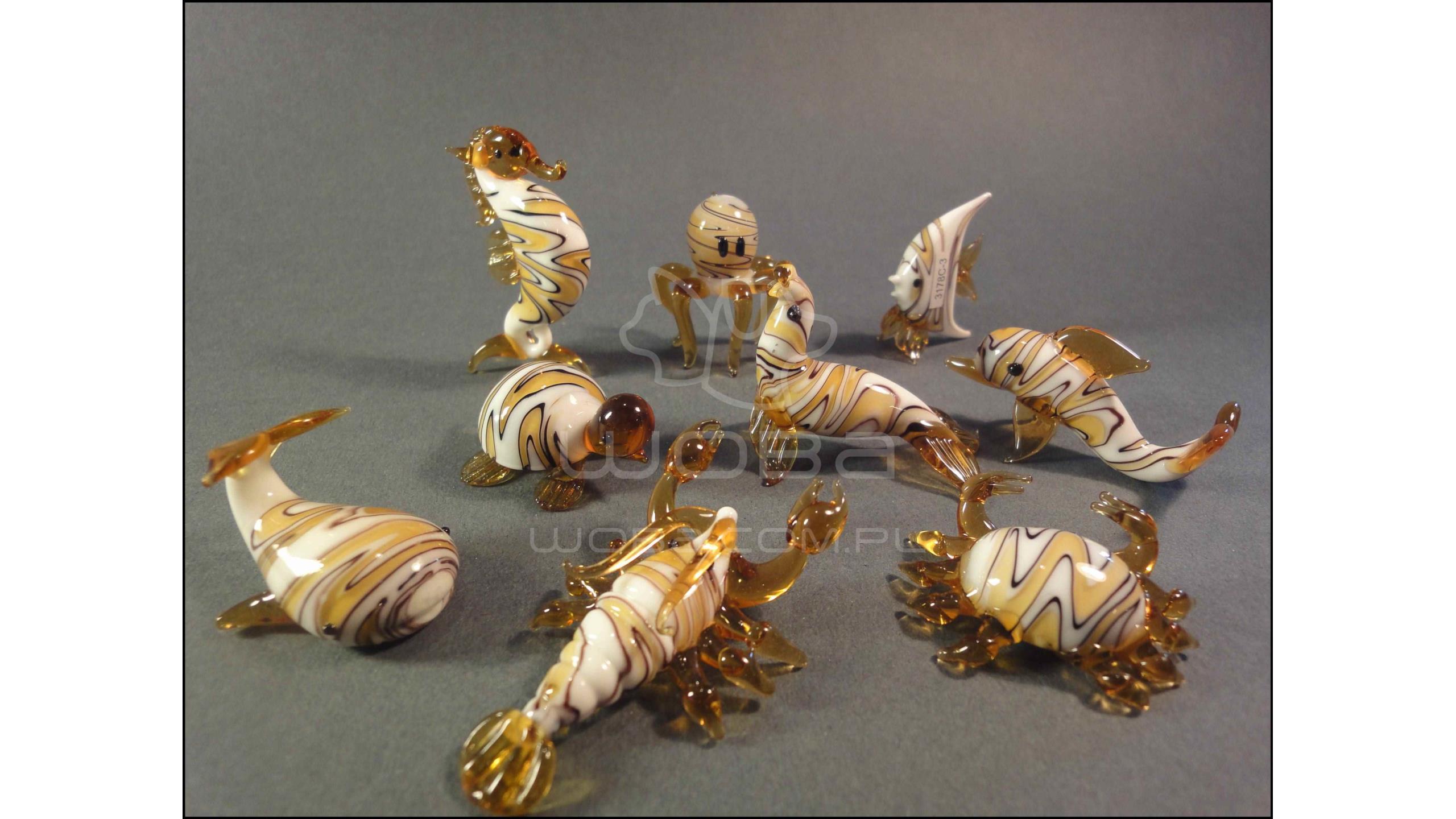 Zwierzęta Morskie Seria C (9 sztuk) Bursztynowa