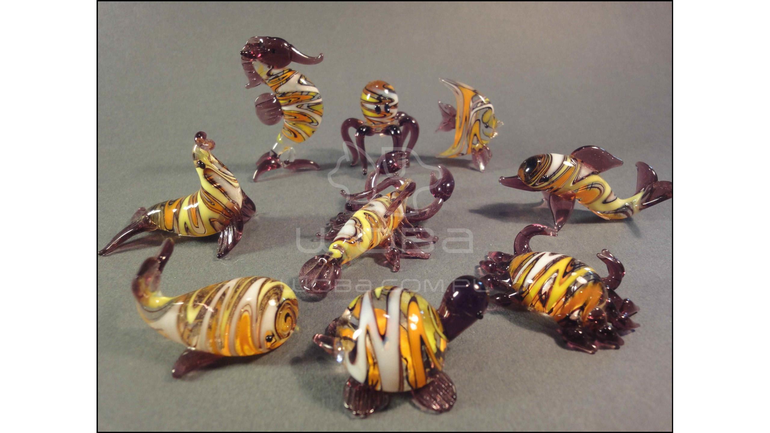 Zwierzęta Morskie Seria E (9 sztuk) Fioletowa