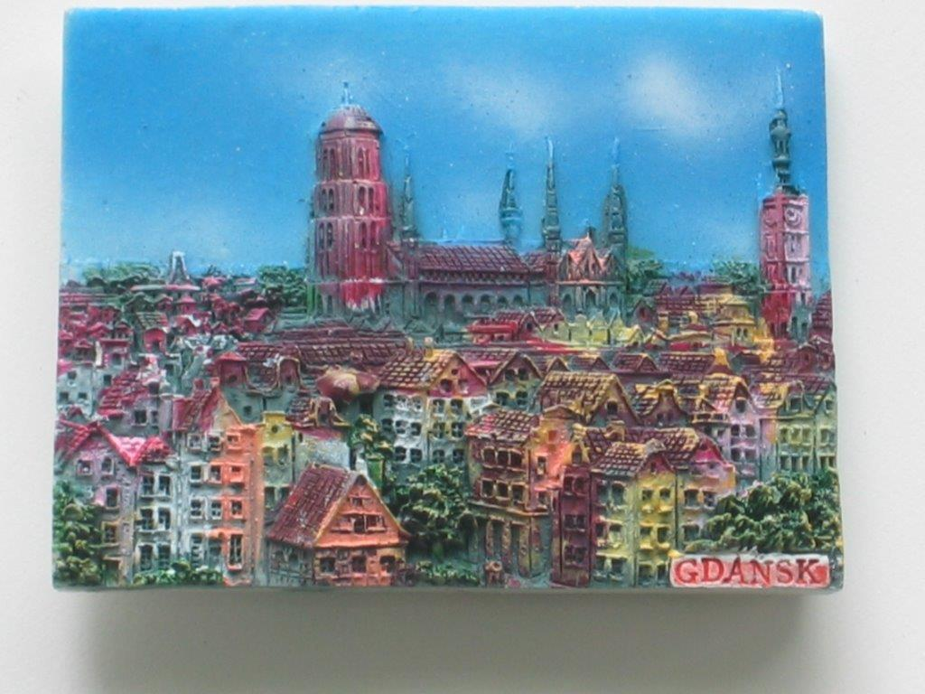 Magnet - Gdansk - Top view - Plank