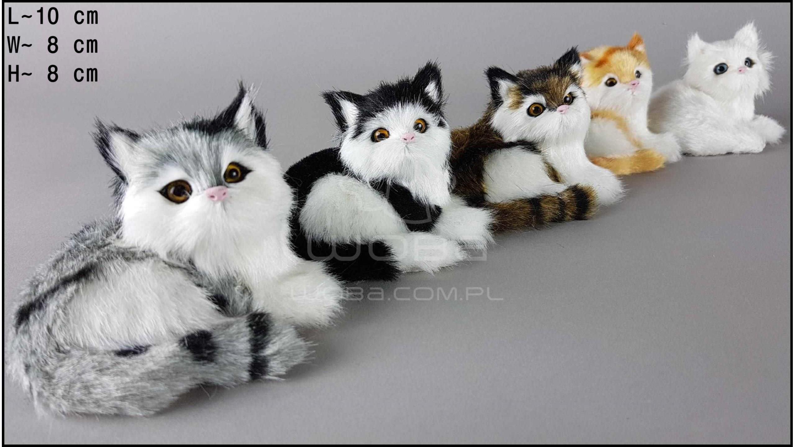 Kotki leżace w prawo, miauczące (5 szt. w opakowaniu)