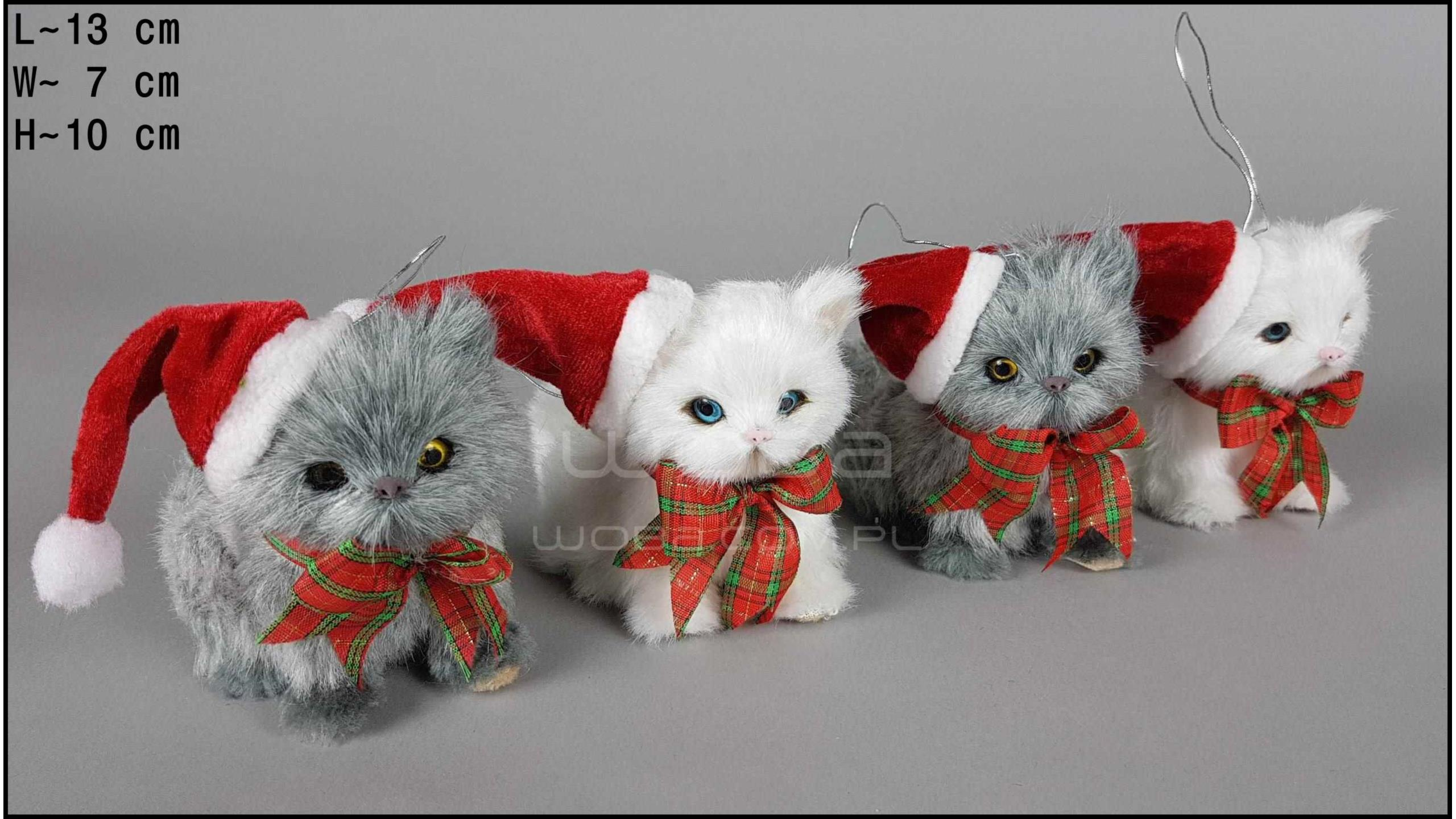 Kitten with a bowknot (4 pcs in a box)
