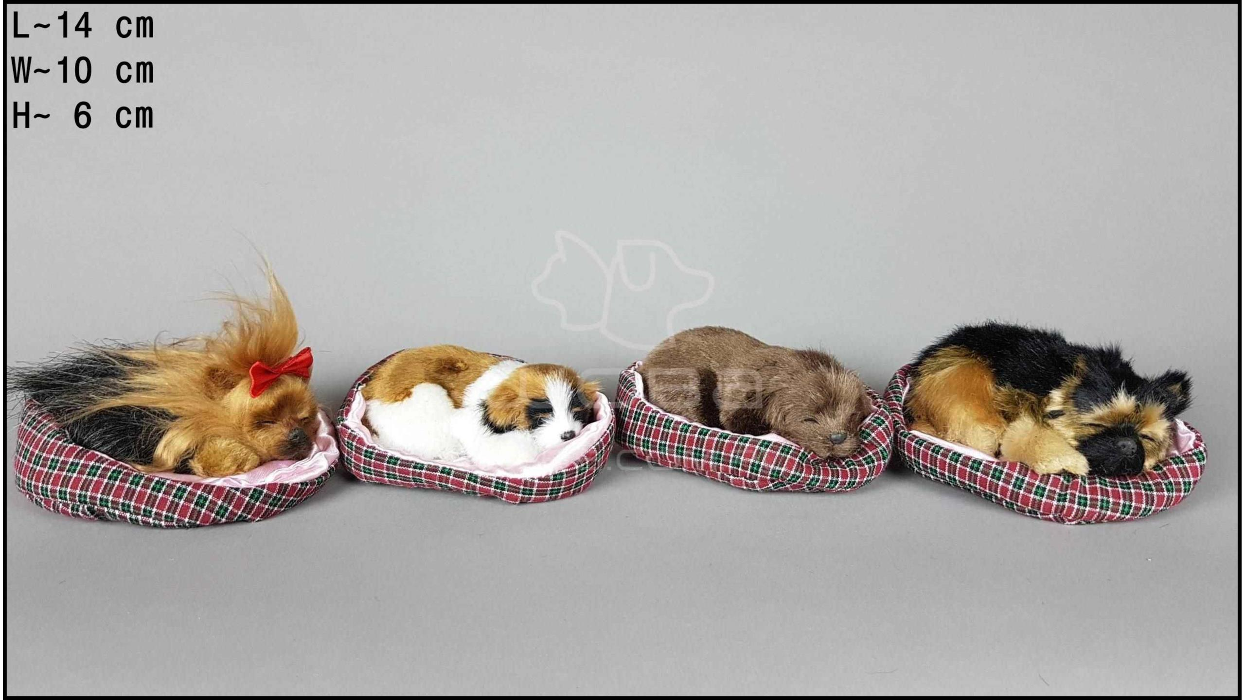 Little dogs in a cot (4 pcs in a box)