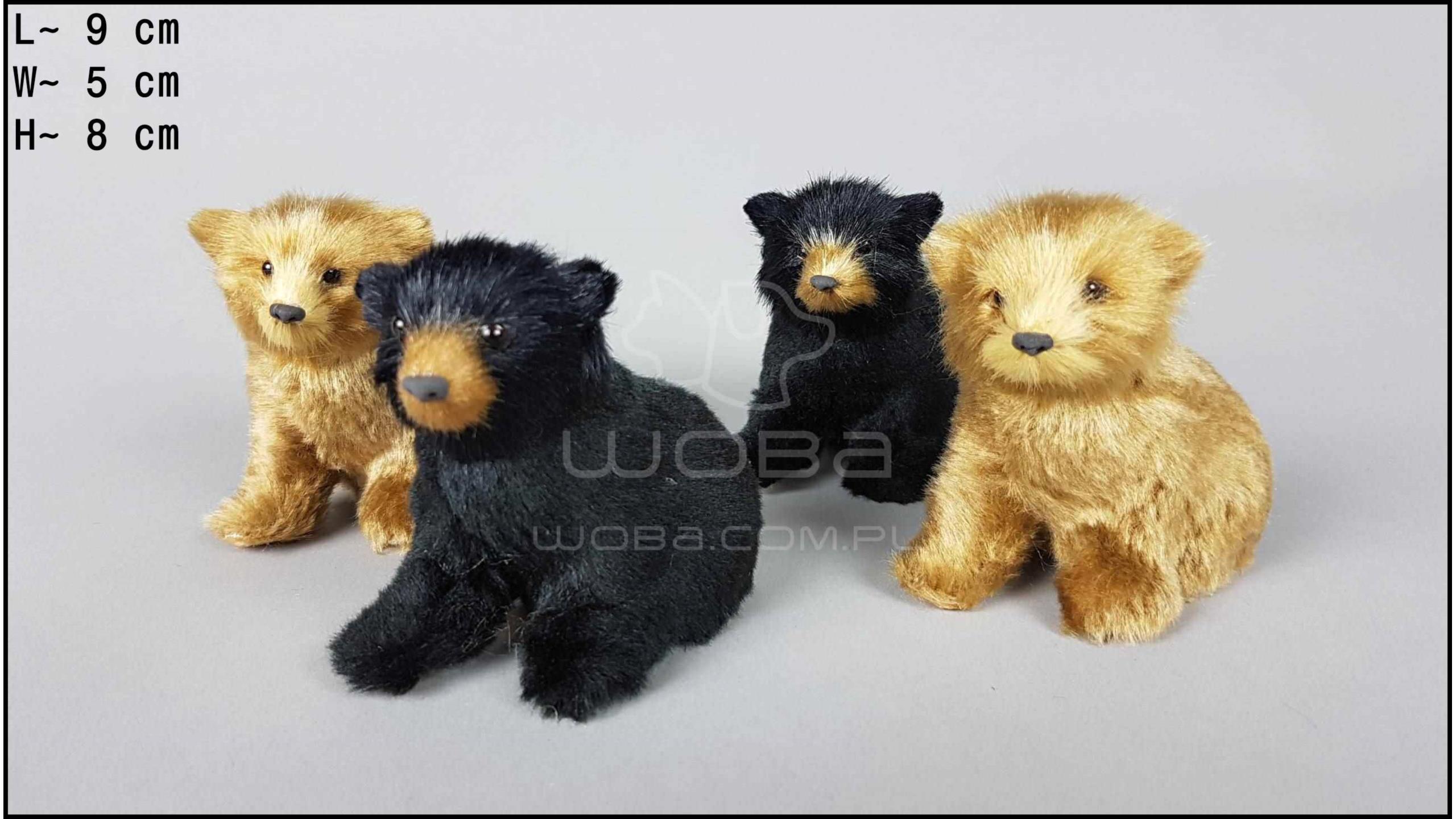 Bear cubs sitting (4 pcs in a box)