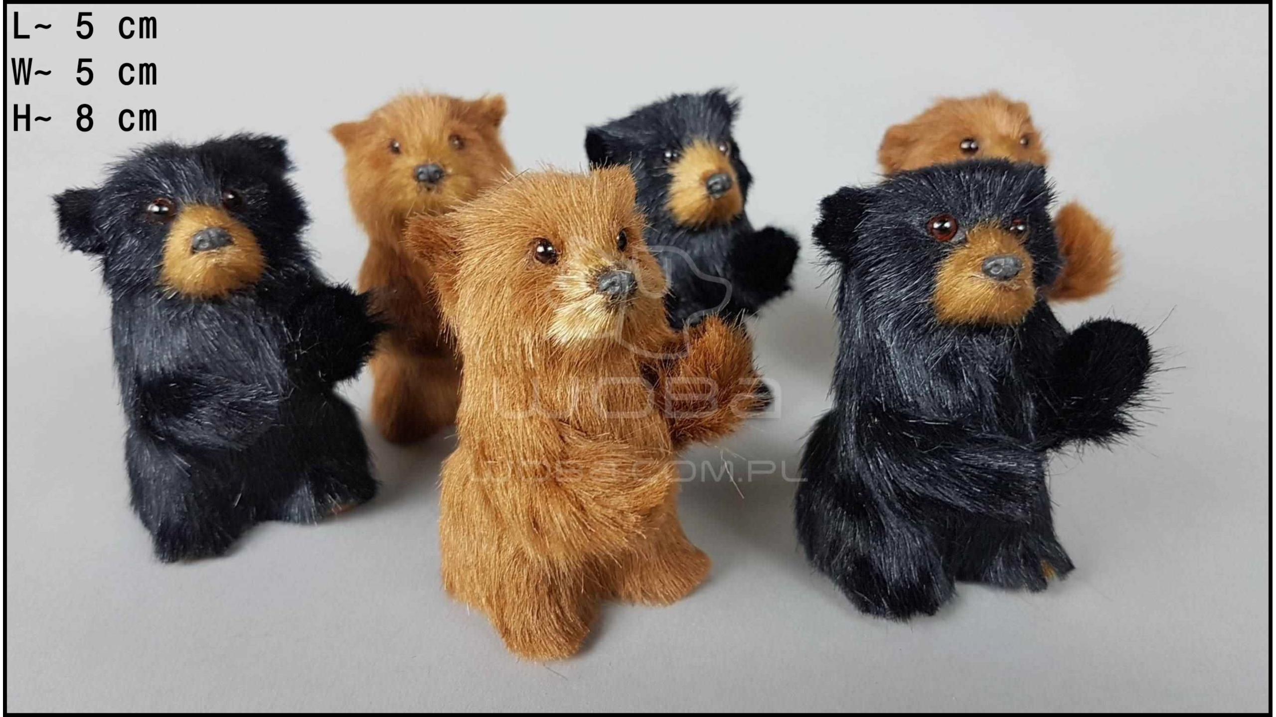 Bear cubs standing (6 pcs in a box)