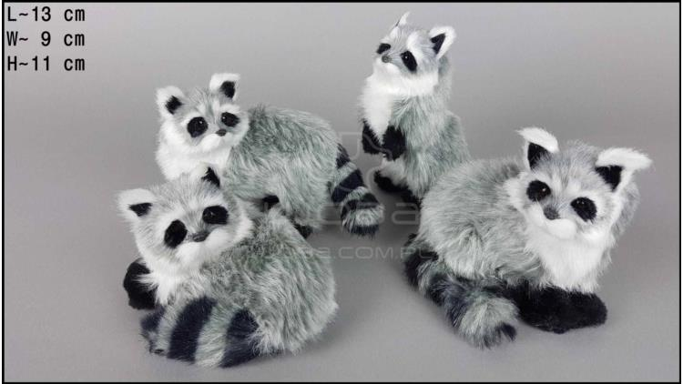 Middle-sized raccoon (4 pcs in a box)