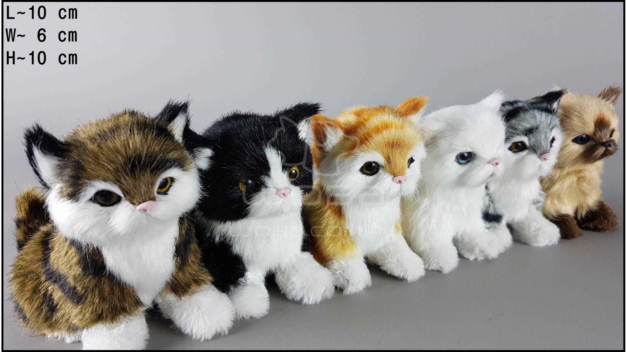Kotki siedzące, miauczące (6 szt. w opakowaniu)