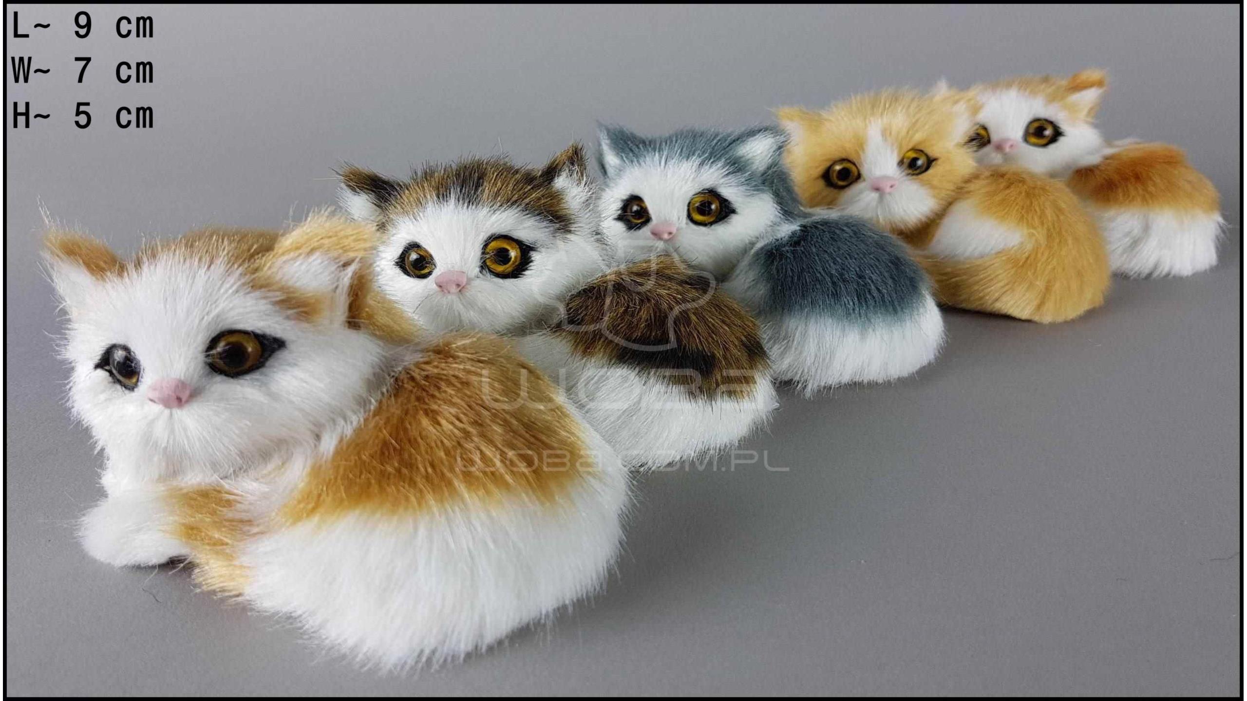 Kotki leżace w lewo, miauczące (5 szt. w opakowaniu)