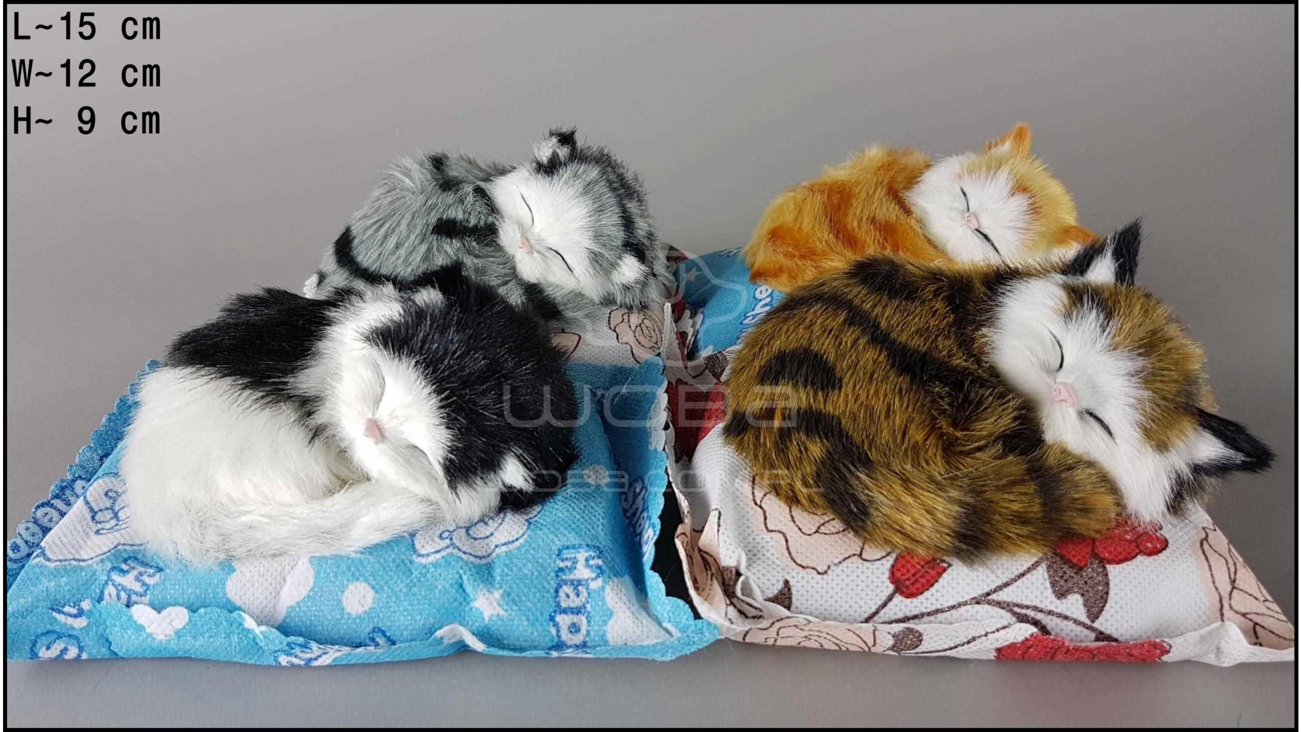 Kotki na poduszce bambusowej białej (4 szt. w opakowaniu)