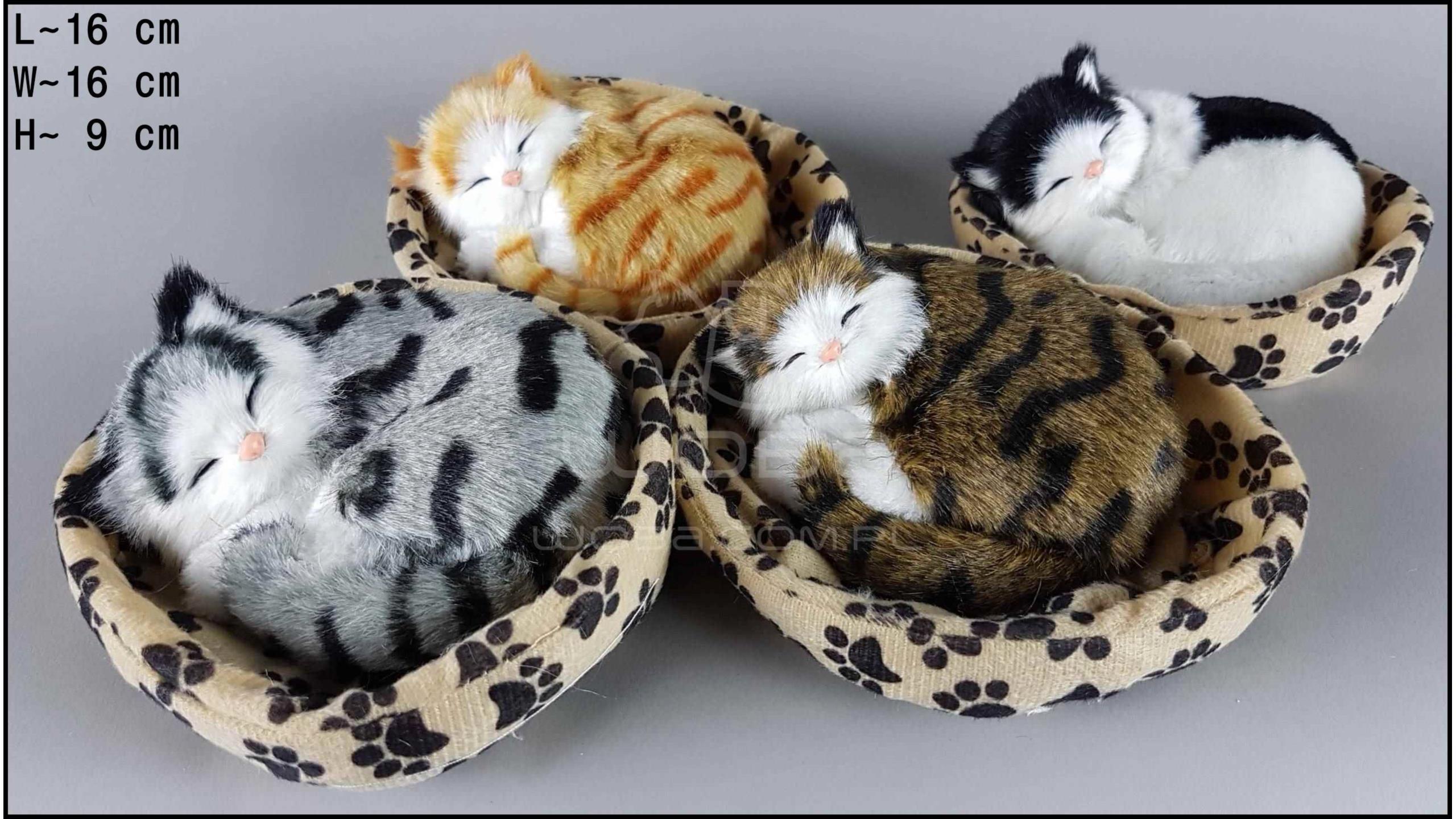 Kotki w kojcu z łapką - Na rzep (4 szt. w opakowaniu)