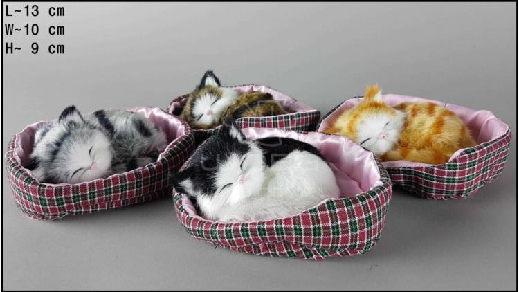 Kittens in a pink cot (4 pcs in a box)