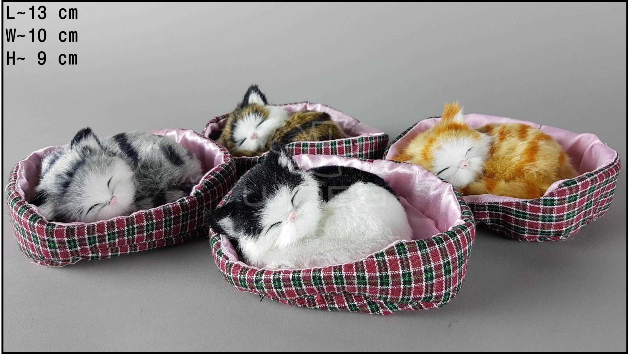 Kotki w kojcu różowym - Na rzep (4 szt. w opakowaniu)