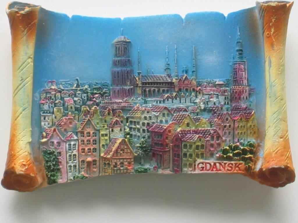 Magnet - Gdansk - Top view - Vellum