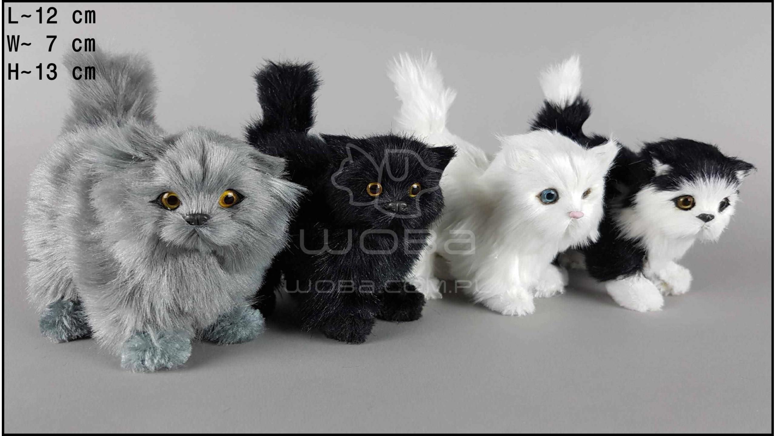 Kot stojący, włochaty (4 szt. w opakowaniu)