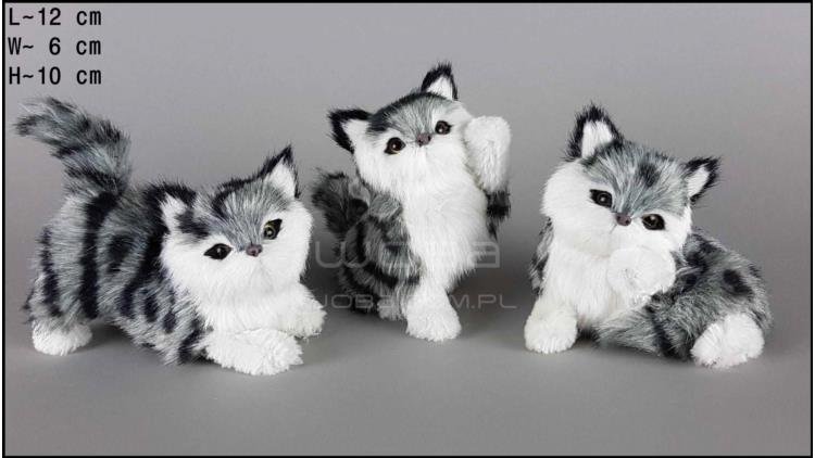 Kittens - 3 poses, grey (3 pcs in a box)