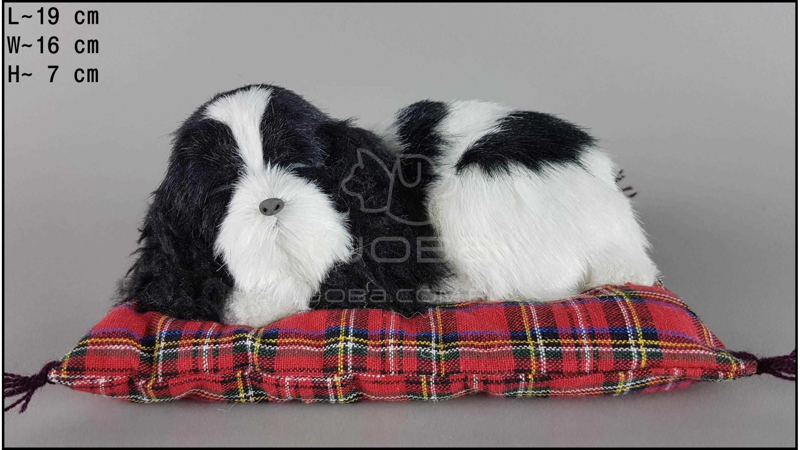 Cocker Spaniel on a pillow - Size S - Black & White